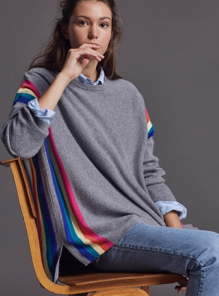 Young British Designers: ALEX JUMPER. Fulmar/Rainbow - Back in Stock by LAM Clothing