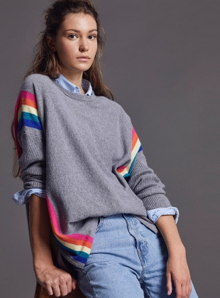ALEX JUMPER. Fulmar/Rainbow - Back in Stock by LAM Clothing