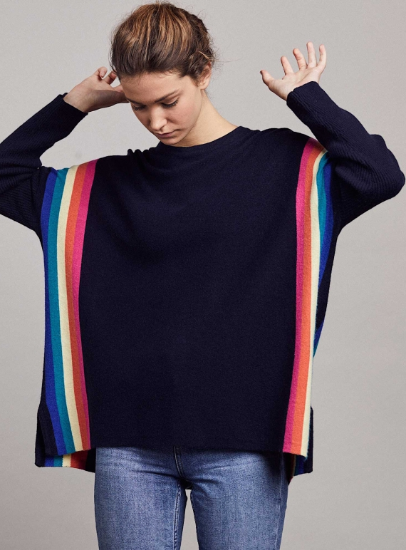 Young British Designers: ALEX JUMPER. Yacht/Rainbow - Last one (o/s) by LAM Clothing