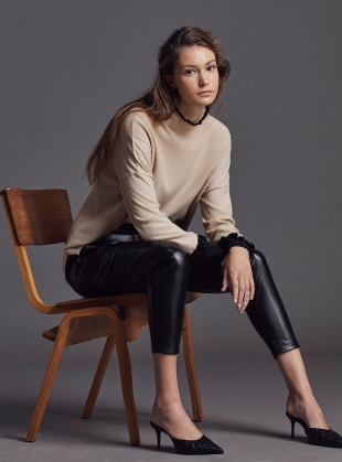 Young British Designers: GRACE JUMPER. Sable/New Jet - BACK IN STOCK by LAM Clothing