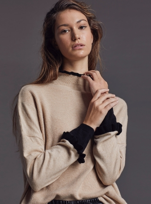 GRACE JUMPER. Sable/New Jet - BACK IN STOCK by LAM Clothing