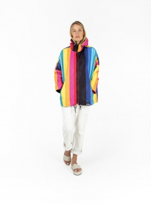 Young British Designers: NIGHT RAINBOW JACKET by Insane In The Rain