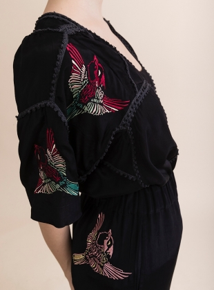 LISA TOP. Lace Trim & Embroidery by Tallulah & Hope