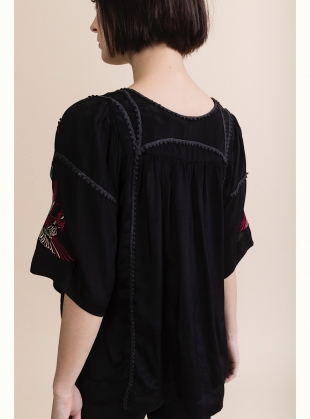Young British Designers: LISA TOP. Lace Trim & Embroidery by Tallulah & Hope