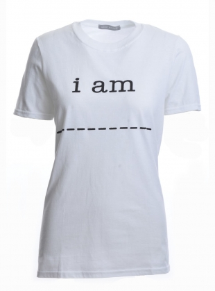 Young British Designers: Draw Your Own 'i am' T-Shirt by Harriet Eccleston