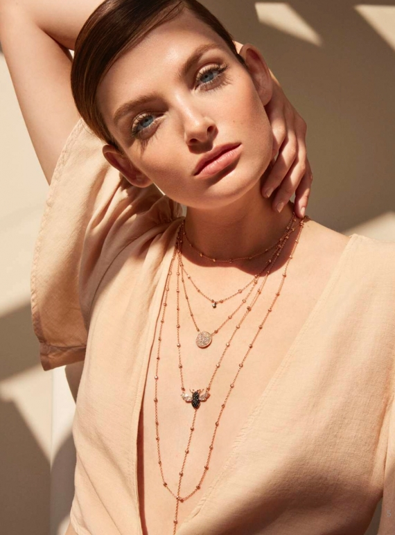 Young British Designers: Rose Gold Dot Chain Necklace - Last one by Maha Lozi