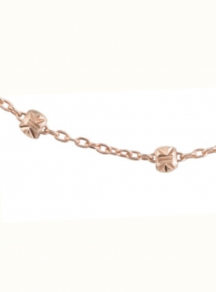 Young British Designers: Rose Gold Dot Chain Necklace by Maha Lozi