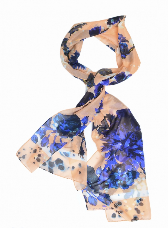 Young British Designers: GOTHIC FLORAL Long Scarf  by Klements