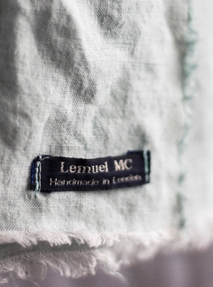 Young British Designers: Linen Softened Wraparound Scarf in Duck Egg by Lemuel MC - Last one by Lemuel MC