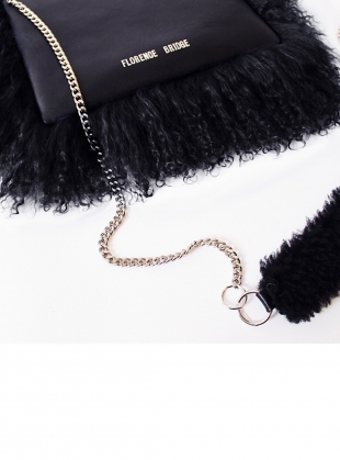 Young British Designers: Bianca Fluffy Crossbody Bag in Black - last one by Florence Bridge