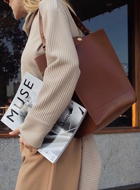 Young British Designers: KAI Tote in Classic Tan - Last one by Danielle Foster