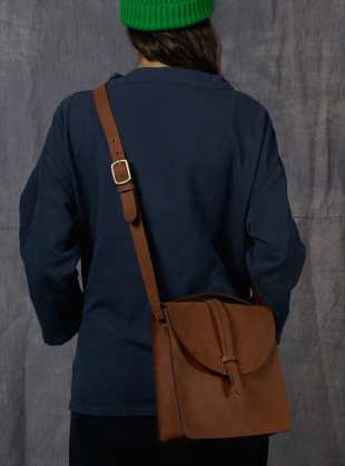 Young British Designers: PRUSSIA Satchel in Cocoa by M.Hulot