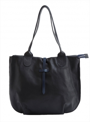 SOAMES Tote in Black with Navy by M.Hulot