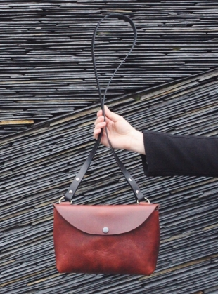 HATTIE Cross Body Bag in Chestnut by Weald Handmade