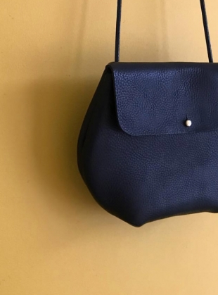 Young British Designers: MARGOT Cross Body Bag in Black by Weald Handmade