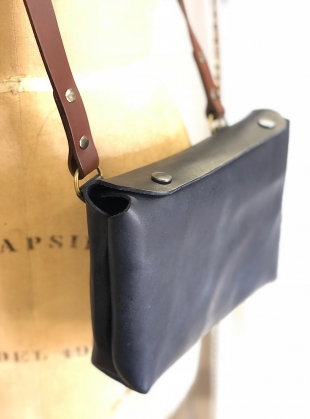 GWEN Cross Body Bag in Navy by Weald Handmade