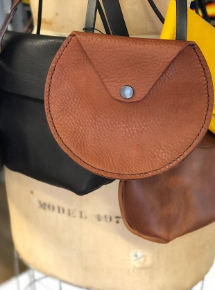 Young British Designers: AVA Cross Body Pouch in Tan by Weald Handmade