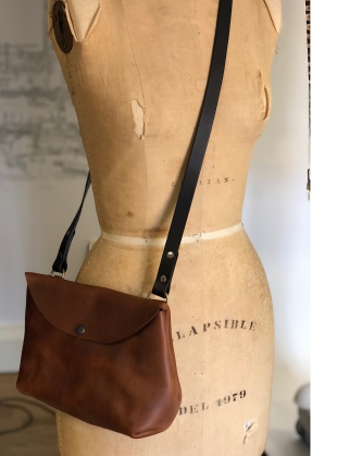 Young British Designers: HATTIE Cross Body Bag in Chestnut by Weald Handmade
