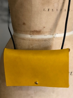 Young British Designers: CAMILLE Cross Body Bag in Yellow - Sold out by Weald Handmade