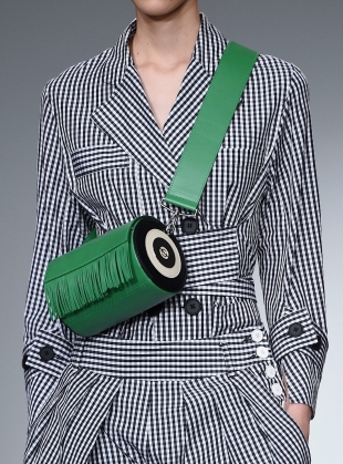 Young British Designers: LOIE BAG in GREEN - Last one by Eudon Choi