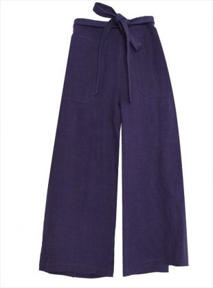 LINEN WRAP PANTS IN NAVY - last pair by LF Markey