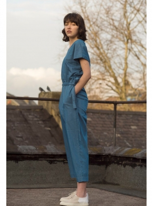 Young British Designers: V Jumpsuit in Bleached Denim by Folk