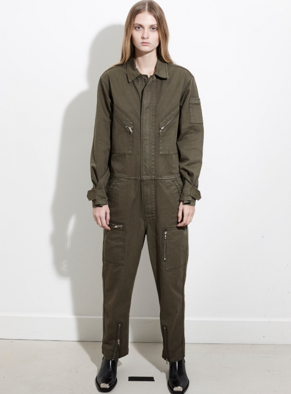 Young British Designers: Army Utility All in One Boilersuit by REMAIN STUDIO