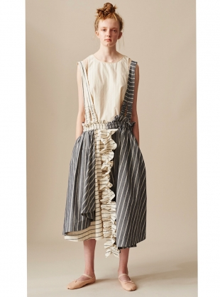 HAND CRAFTED PINAFORE SKIRT- last one by Renli Su