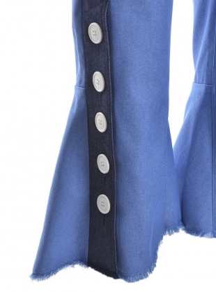 Young British Designers: PAULINE TROUSER in Blue Contrast by Eudon Choi