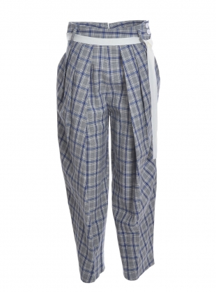 Young British Designers: GRIFFIN CHECK TROUSERS by Eudon Choi