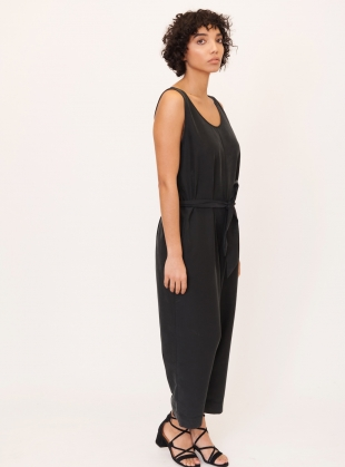 Young British Designers: MARGARET Modal Jumpsuit in Black - Last one by Beaumont Organic