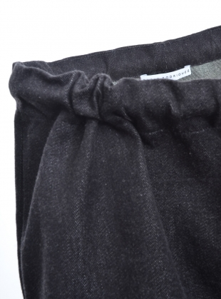 Young British Designers: GATHERED SHORTS IN WASHED BLACK ORGANIC COTTON by Paola Rodriguez