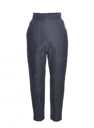 Young British Designers: NAVY DENIM Contrast TROUSERS by Longshaw Ward
