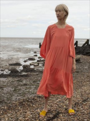 RICHARD DRESS IN CORAL by LF Markey
