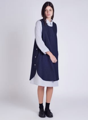 Young British Designers: Denim Pop Tabard Dress  by Kate Sheridan