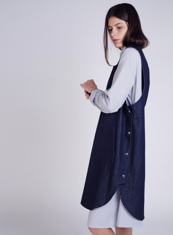 Denim Pop Tabard Dress  by Kate Sheridan