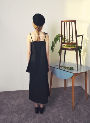 Young British Designers: BLACK COTTON BOW DRESS  by Moon Lee Artwear