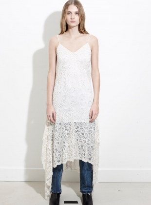 Cream Lace Cami Dress by REMAIN STUDIO