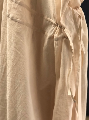 Young British Designers: Romance Drawstring Dress in Natural - Sold out by Renli Su