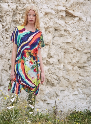 FRIEDA Dress in Magma Print - last one by Klements