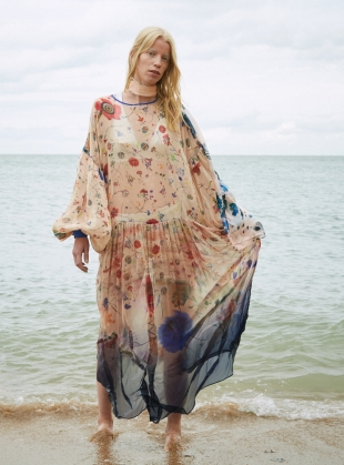 THE DUSK Dress in Floral Explosion - sold out by Klements