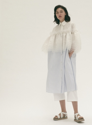 Wave Ruffle Dress - Last one by Steven Tai
