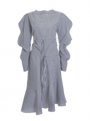 Young British Designers: HARRIET DRESS in Black & White Gingham  by Eudon Choi