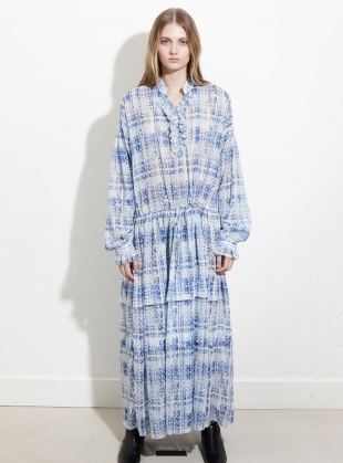 Oversized Dress with Frill Bib - Last one by REMAIN STUDIO