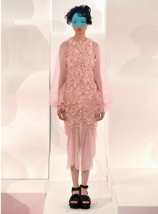 PRETTY in PINK RUCHE DRESS  by MINKI LONDON