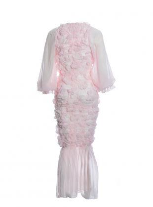 Young British Designers: PRETTY in PINK RUCHE DRESS  by MINKI LONDON