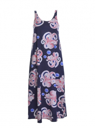 Young British Designers: EOS Dress in Organic Cotton Octopus Print - Last one by COR Clothes