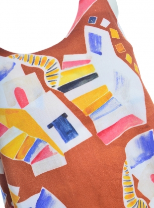 Young British Designers: EOS Dress in Organic Cotton Chora Print by COR Clothes