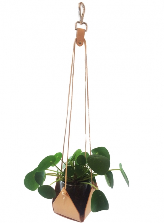 Young British Designers: Nude Leather PLANT HOLDER  by Kate Sheridan