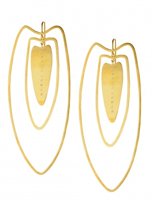 Young British Designers: ANAIRE Earrings in Gold with White Sapphires by Joanna Cave